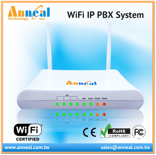 Affordable Rich Call Feature Mini WiFi IP PBX with 1 FXS 1 FXO