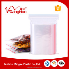food grade pe reclosable ziplock plastic bags
