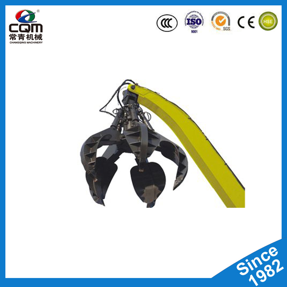 360 degree Rotating Hydraulic Orange Peel Grab Bucket For Grab Steel