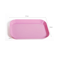 Bright colored and sturdy 8.5 inch rectangle shape bulk packing melamine serving tray