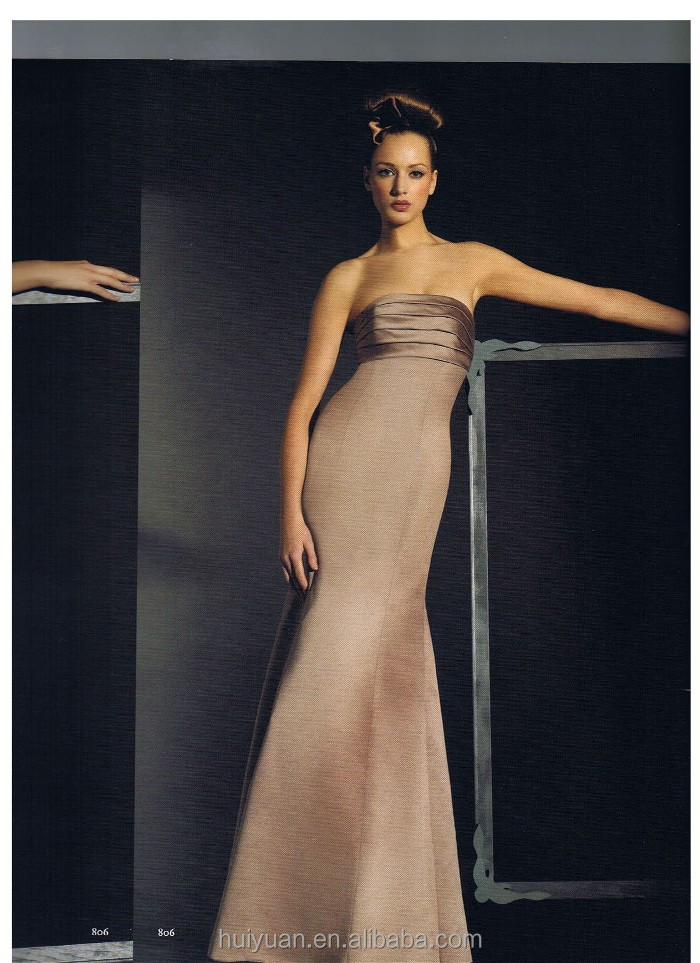 light brown backless formal evening dress