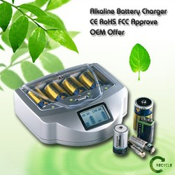 Hot sale alkaline battery recharger with CE,ROHS,FCC,ETL approved