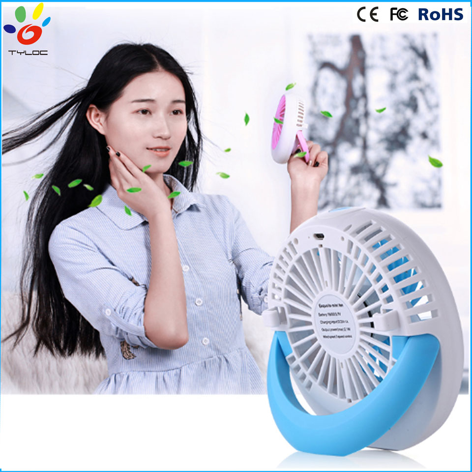 Factory direct sale mini portable USB fan/hand held rechargeable fan