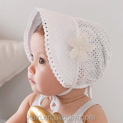 New Baby Lace Bonnet Hat Lacy Baby Girl Bonnet Hat Newborn Lace Ruffled Baby Bonnet