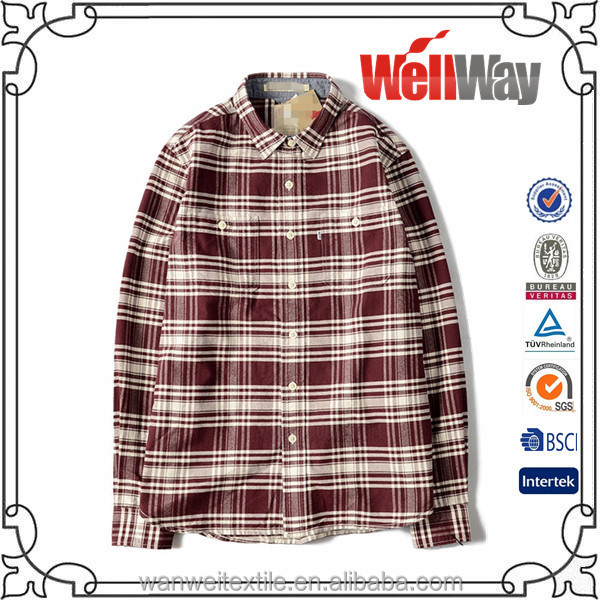 2014 long sleeve cotton men brown large size flannel shirts