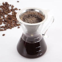Hot selling clever stocked feature highly durable cone coffee dripper