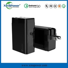 alibaba 5v 3400mA Rapid Charging Qualcomm qc3.0 usb charger 2 port battery wall charger black EU/US plug usb wall charger