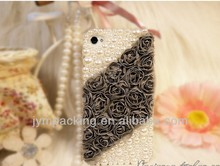 Peral Lace Rose Glitter Mobile Phone Cover Case for IPhone5/5S/4/4S