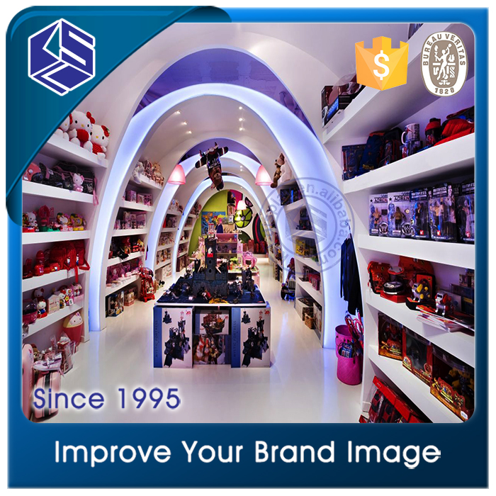 High end toy shop display rack for toy shop interior design for sales