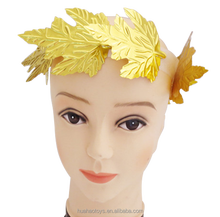 Christmas Thanksgiving Carnival Party Accessory Artificial Gold Hair Maple Wreath Vine