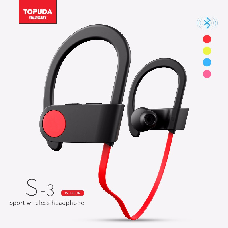 Mini music reviews flat cable sport earphone wireless bluetooth headphone