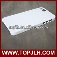 sublimation 3D printig blank phone case for iPhone 5s with customized 3D image