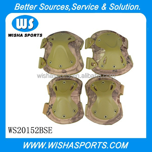 New color Banshee Camo High Quality SWAT X-Cap Tactical Military Paintball Knee And Elbow Pads