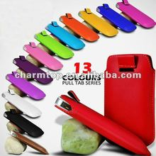 For iPhone 5 Pull Tab Leather Pouch Case