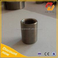 304 Stainless Steel 1/8 NPT Pipe Thread Full Merchant Coupling socket O. D. Machined Weld Bung