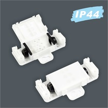 Plastic white IP44 waterproof mini cable junction box connector for bathroom mirror light