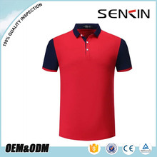 2017 men summer 100% cotton fabric polo shirt business contrast color golf t shirts