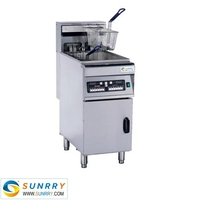 Commercial vertical electric fryer one tank two baskets 28 liters hot dog bean and vegetable fryer (SY-FF28C SUNRRY)