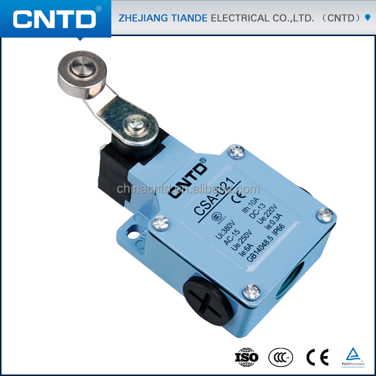 CNTD Water-proof CE TUV Approvel Spring Rocker Type Contact Limit Switch CSA-021