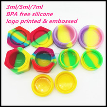 Custom 3ml 5ml Silicone Jars Dab Wax Container For Wax/Oil