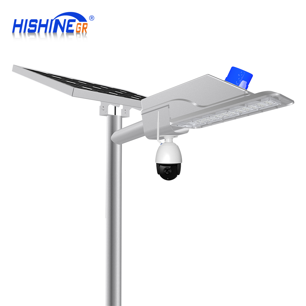 Smart system 163LM/<strong>W</strong> Remote control solar street light 50w energy saving lamp