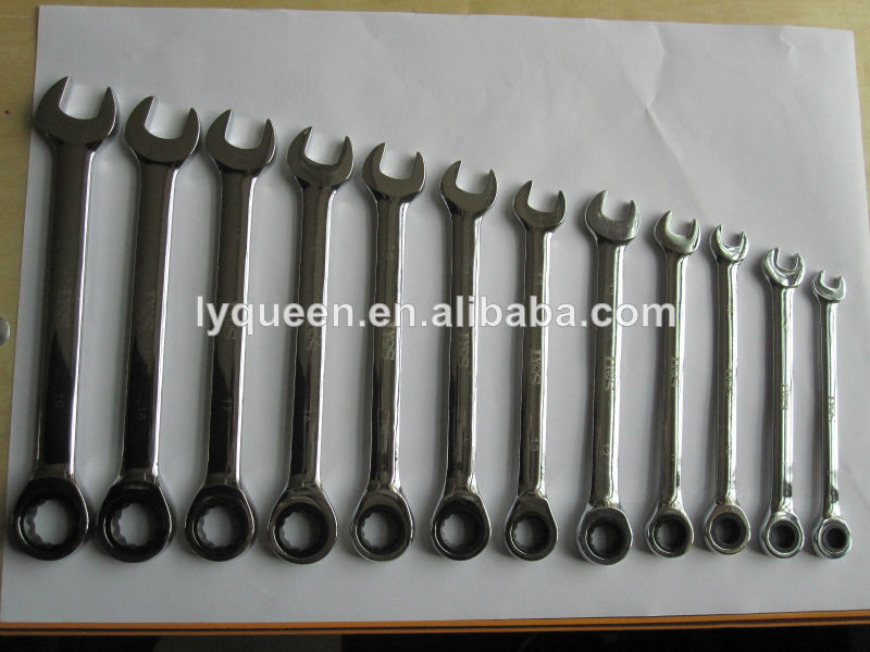 Double End Ratchet Wrench/Spanner 46 mm x 55 mm&high quality Sharp End Ratchet Wrench