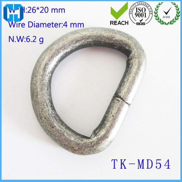 "Wholesale Brass Color Bag Parts 1"" Metal D Ring"