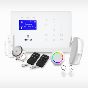 GSM Home Alarm Security System with Touch Keypad/LCD Display/RFID