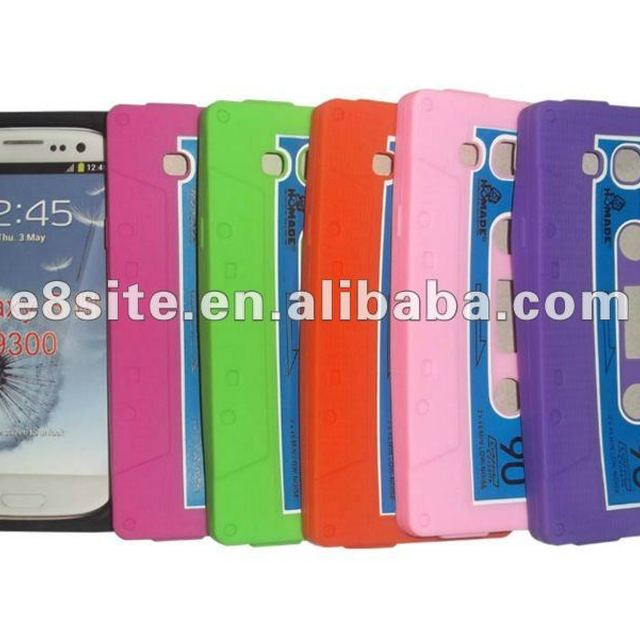 Cassette Tape Silicon Skin Cover Case For SamSung i9300 Galaxy S3