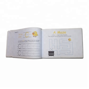 High quality coloring softcover children's baby memory short story book