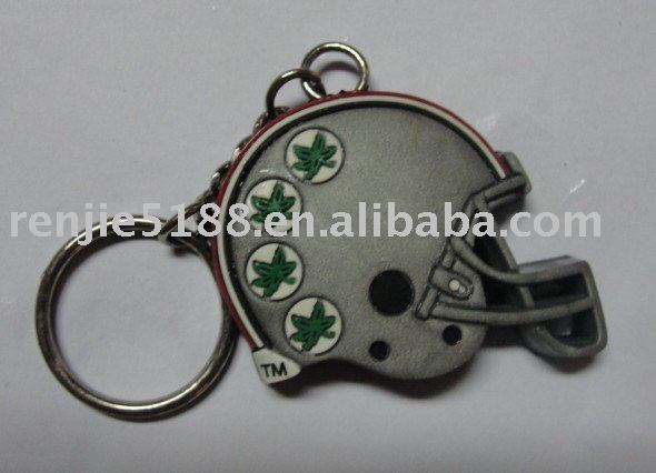 1pcs Creative Baseball Helmet Key Chain Ring Keychain Keyring Key Fob