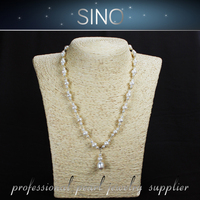 mot beads keshi pearl necklace simulated pearl
