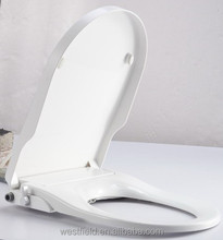 Bathroom PP Automatic Sanitary Toilet Seat Bidet &Square Resin Toilet Seat With two nozzles