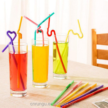 Flexible Circle Plastic Crazy Straws to Drink