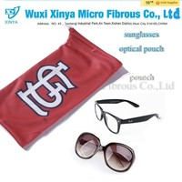 custom logo printed microfiber fabric sunglasses holder,eyeglass pouch