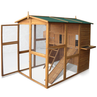 Super Delux 2 Floor Wooden Chicken Coop /Poultry house/Hen House With Ramp