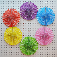 "12"" Wedding decorations hanging paper fan 6 pieces set"
