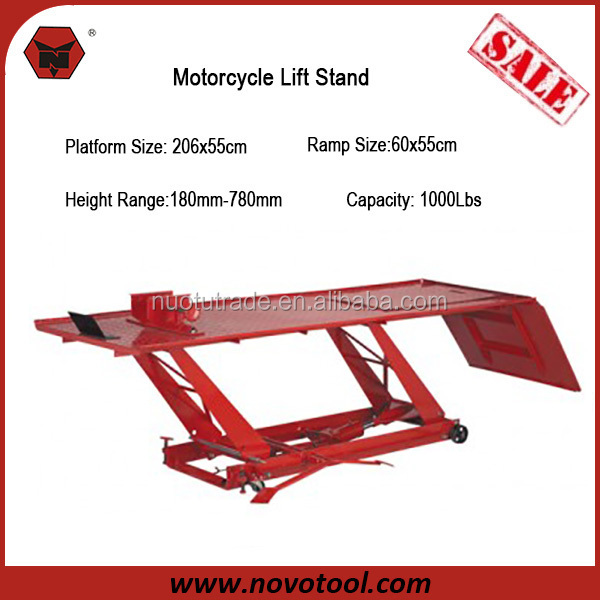 1000lbs Loading Cheap Motorcycle Scissor Lift Air Jack Motorcycle Platform Lift