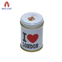 Custom printing wholesale cheap airtight empty round metal tea tin