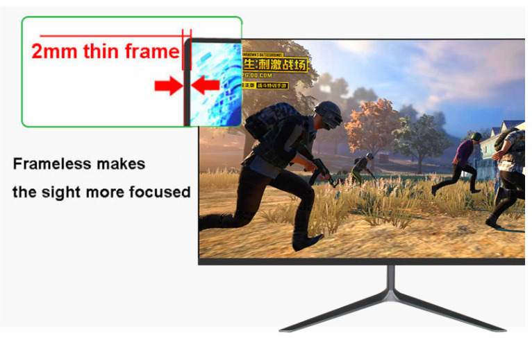 Wide screen IPS panel frameless 32 inch tft lcd monitor for computer
