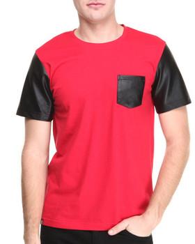 High quality pocket leather sleeve t shirts wholesale for Bulk pocket t shirts