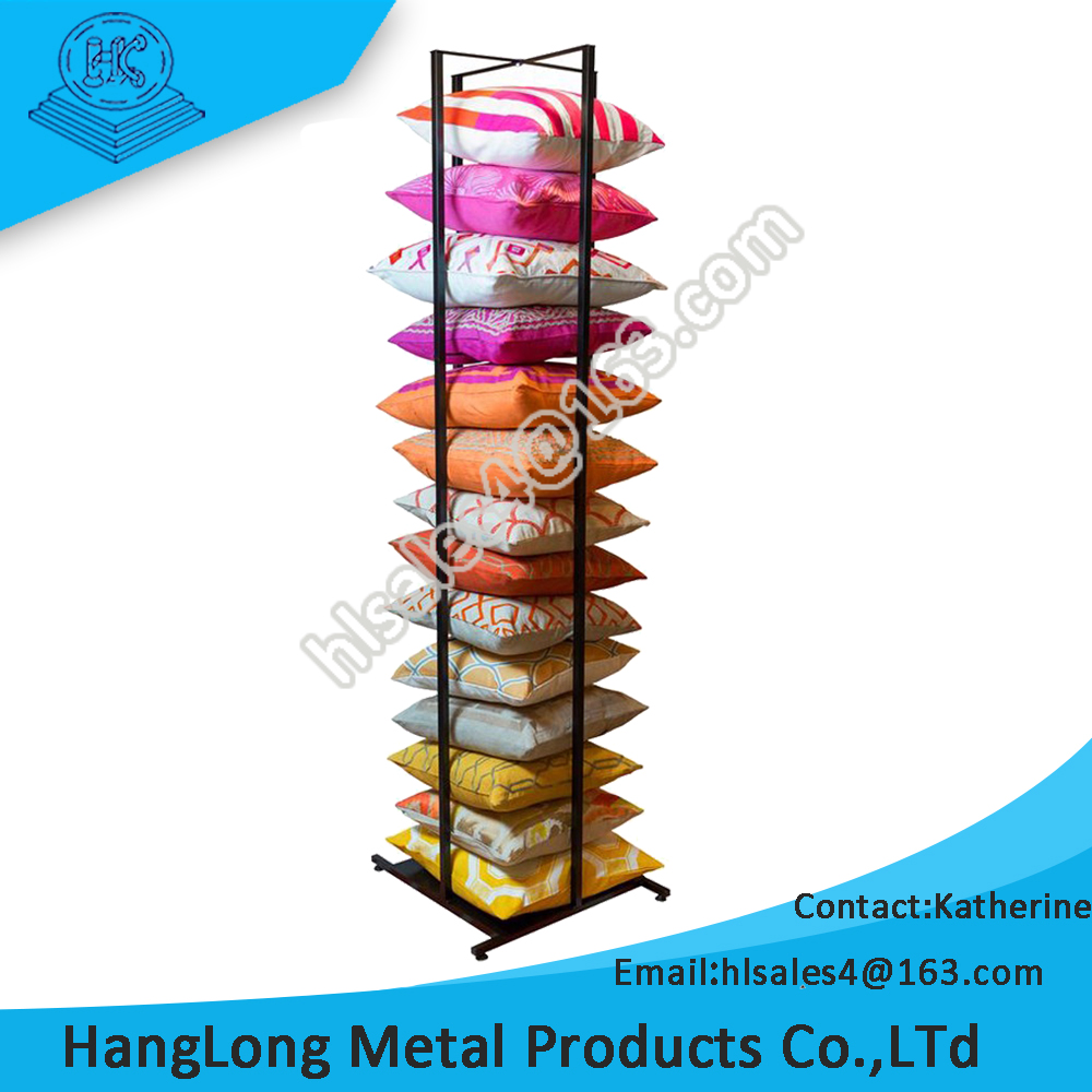 large capacity durable pillow display stand with easy install