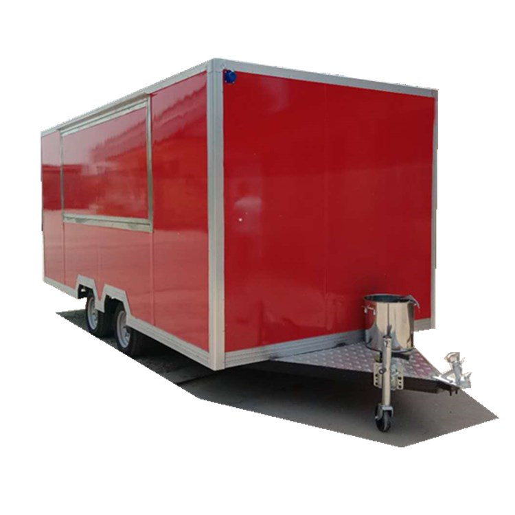 Promotion price food truck trailer with ISO