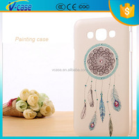 Painting pc bling bling rhinestone phone cover case for samsung galaxy tab e7