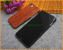 Natural wood bamboo + PC hard back cover hybrid phone case for Iphone 7 plus