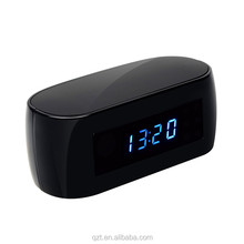 Cheap price 1080P wifi spy hidden cctv desk clock camera with night vision function