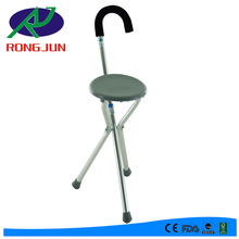 Folding elderly walking stick with chair /seat