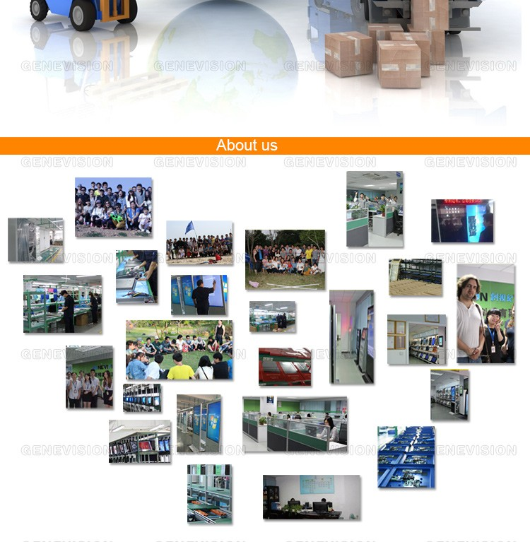 21.5 inch lcd brochure digital signage advertising with screen display