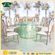 Newest model cheap stainless steel restaurant dining tables and chairs