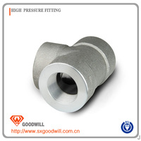 forged high pressure pipe fittings astm a105 sw tee
